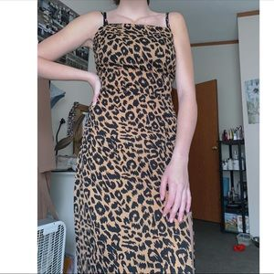 Nasty Gal Maxi Animal Print dress